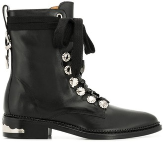 Toga Pulla lace-up boots