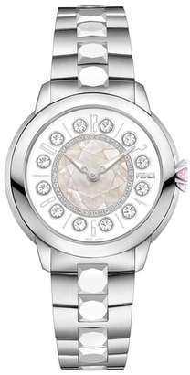 Fendi Ishine Diamond Bezel Rotating Bracelet Watch, 38mm