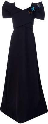 DELPOZO puff sleeve gown