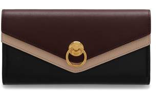 Mulberry Harlow Long Wallet Black and Oxblood Silky Calf Multi-Coloured