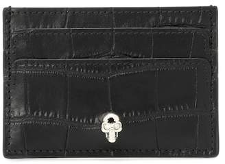 Alexander McQueen Embellished leather card holder