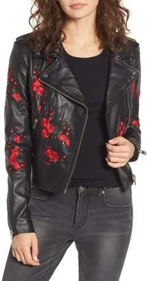 Moto LAMARQUE Embroidered Leather Jacket