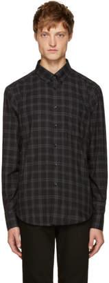 Naked & Famous Denim Denim Black Plaid Flannel Shirt