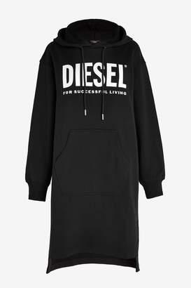 Diesel Womens Black Oversized Hoody Dress - Black