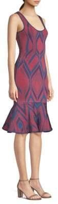 Herve Leger Jacquard Fishtail Dress