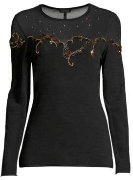 Escada Stellina Embellished Knit Pullover