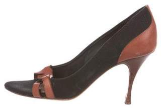 Hollywood Trading Company Canvas Peep-Toe Pumps