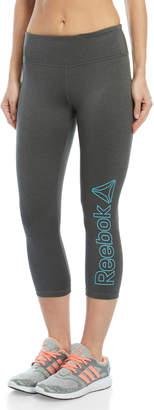 Reebok Legend Logo Athletic Skinny Capris