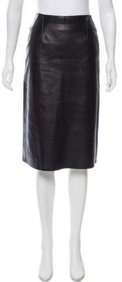 BCBGMAXAZRIA Leather A-Line Skirt