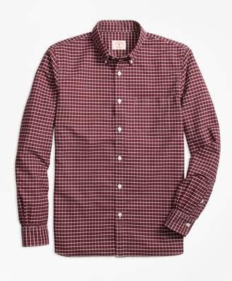 Brooks Brothers Yarn-Dyed Windowpane Oxford Sport Shirt
