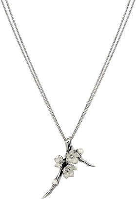 Shaun Leane Cherry Blossom sterling silver, diamond and pearl pendant