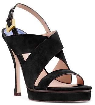 Stuart Weitzman Women's Hester Suede Platform High-Heel Sandals