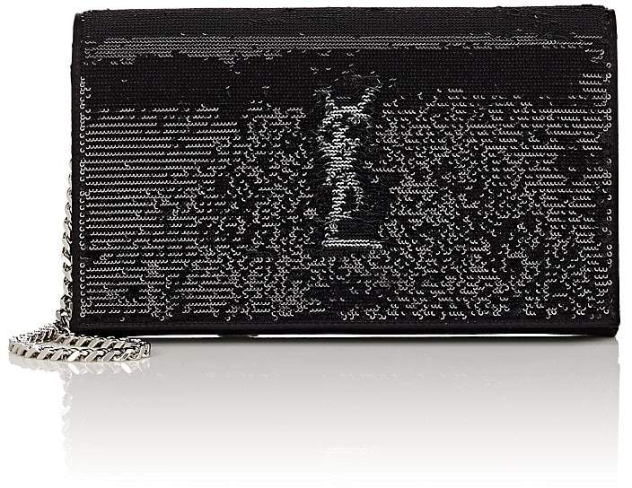 Saint Laurent Women's Monogram Satin Chain Wallet