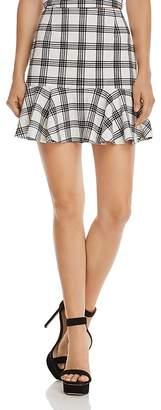 Aqua Flounce-Hem Plaid Skirt - 100% Exclusive