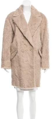 Rebecca Minkoff Leather-Trimmed Faux Fur Coat