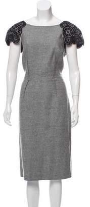 Jason Wu Virgin Wool Embellished Dress