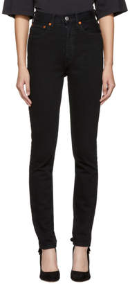 RE/DONE Black Originals Ultra High-Rise Skinny Jeans