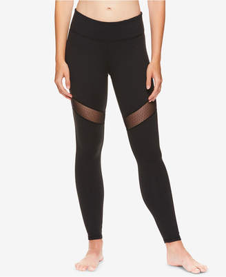 Gaiam by Jessica Biel Mesh-Trimmed High-Rise Ankle Leggings