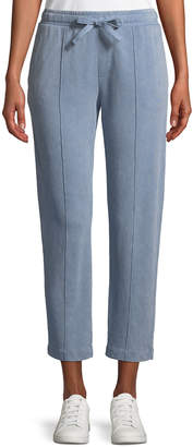 ATM Anthony Thomas Melillo Croma Wash Drawstring-Waist Pull-On Cropped Cotton Pants