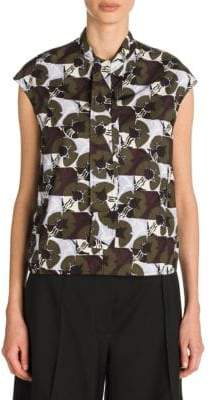 Marni Graphic Tie-Neck Blouse