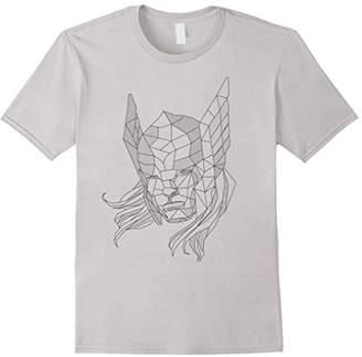 Marvel Thor Geometric Line Art Graphic T-Shirt