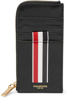 Thom Browne Printed Pebble-Grain Leather Zip-Around Cardholder