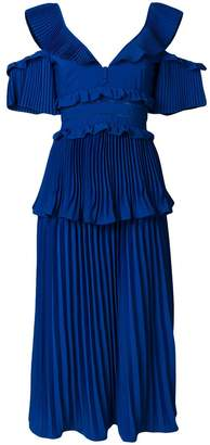 Self-Portrait tiered ruffle dress