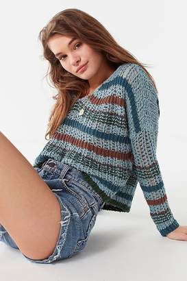 Urban Outfitters Sasha Striped Cropped Sweater