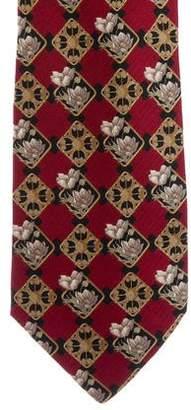 Valentino Floral Print Silk Tie