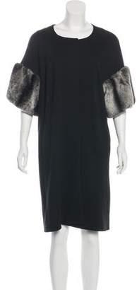 Charles Chang-Lima Fur-Trimmed Knee-Length Coat