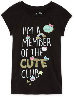 Hello Kitty Short Sleeve Crew Neck T-Shirt-Big Kid Girls