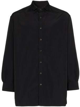 Yohji Yamamoto double collar buttoned shirt