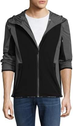 Perry Ellis 360 Men's Colorblocked Hooded Jacket