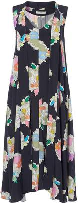 Tibi Camellia on Silk Sleeveless Dress