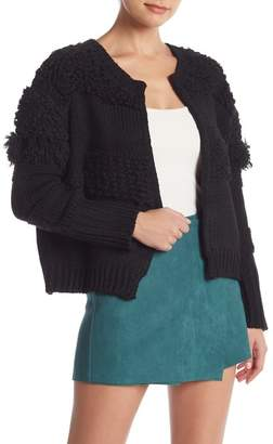 Do & Be Do + Be Textured Long Sleeve Open Front Cardigan