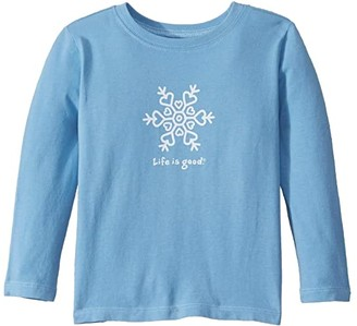 Life is Good Snowflake Crusher Knit Tee (Toddler)