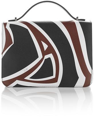 Emilio Pucci Labyrinth Printed Leather Shoulder Bag $1,650 thestylecure.com