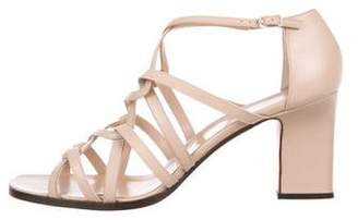 Calvin Klein Leather Round-Toe Sandals