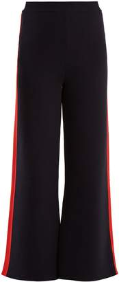 Stella McCartney Wide-leg striped-sided cotton track pants