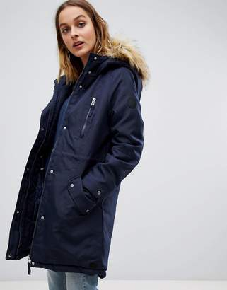 at ASOS · Vero Moda Faux Fur Trim Expedition Parka 184057ce774d