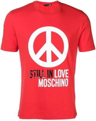 Love Moschino peace symbol T-shirt