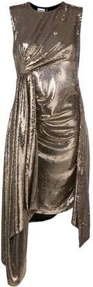 Ainea metallic sequin drape dress
