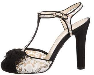 Chanel Lace T-Strap Pumps w/ Tags