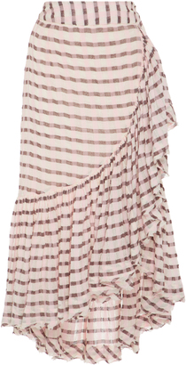 Ulla Johnson Gretchen High-Rise Cotton Wrap Skirt $255 thestylecure.com