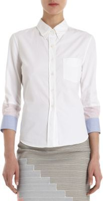 Boy By Band Of Outsiders Three-Quarter Striped Sleeves Shirt