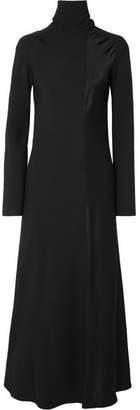 Haider Ackermann Satin-crepe Maxi Dress - Black