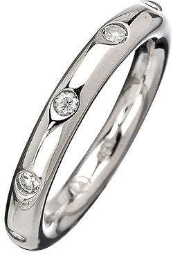 Giorgio Martello Milano Round Band Cubic Zirconia Ring