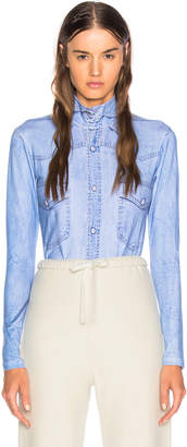 Vetements Shirt Print Long Sleeve Bodysuit