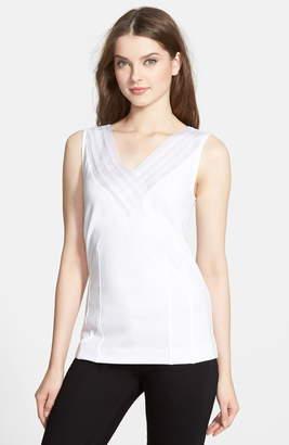 51817e75cf7548 Petite White Sleeveless Tops - ShopStyle