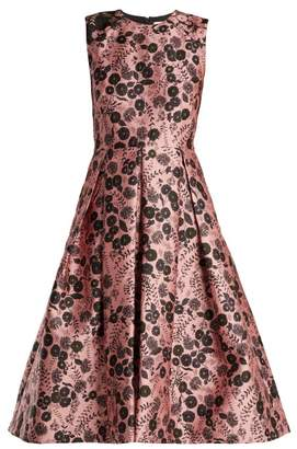 Erdem Indra Floral Jacquard Dress - Womens - Pink Print